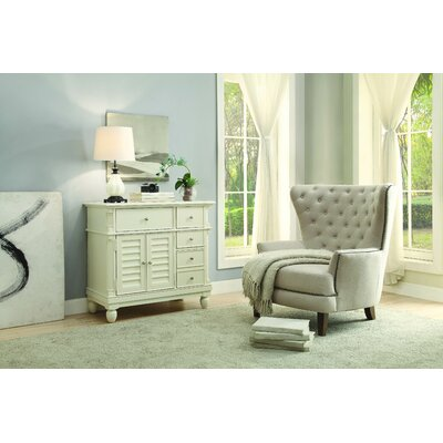 Lavin 5 Drawer Accent Cabinet Color: White
