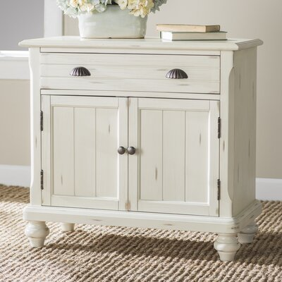 1 Drawer 2 Door Accent Cabinet Color: Off White