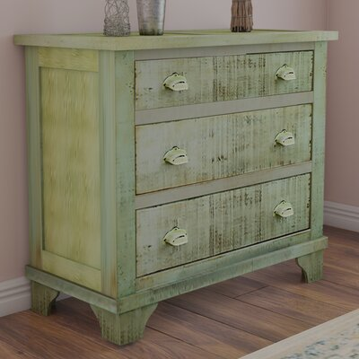 Phares 3 Drawer Chest Color: Mint Green