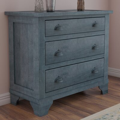Phares 3 Drawer Chest Color: Denim Blue