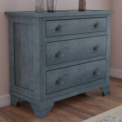Phares 3 Drawer Chest Color: Denim Blue