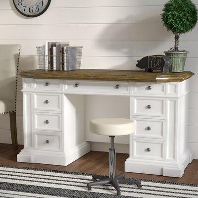 Collette Executive Desk Color: White