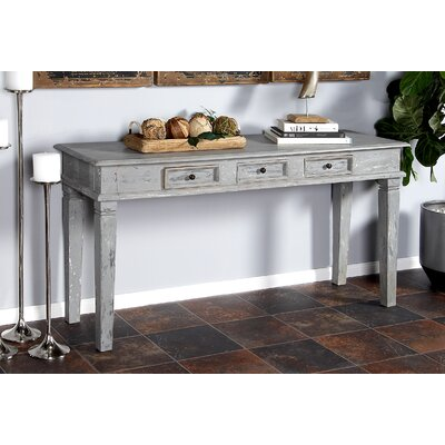 Cranford Rustic 3-Drawer Console Table