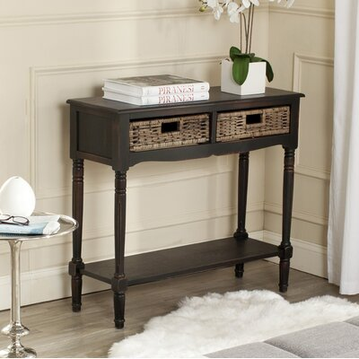 Pegg Console Table Color: Brown