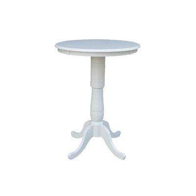 """Bernadette Pub Table Color: Linen White, Tabletop Size: 42"""" H x 30"""" W x 30"""" D"""
