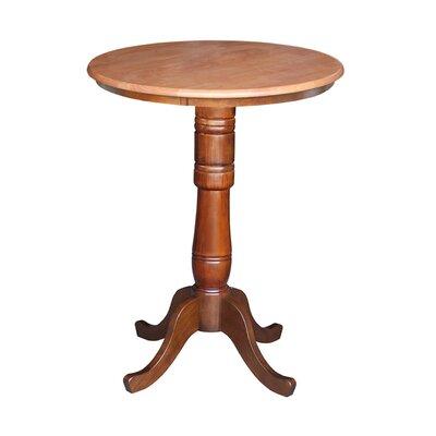 """Bernadette Pub Table Color: Cinnamon/Espresso, Tabletop Size: 42"""" H x 30"""" W x 30"""" D"""