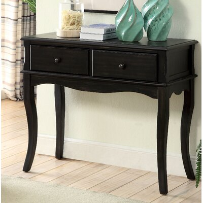 Ledoux Console Table Color: Antique Black