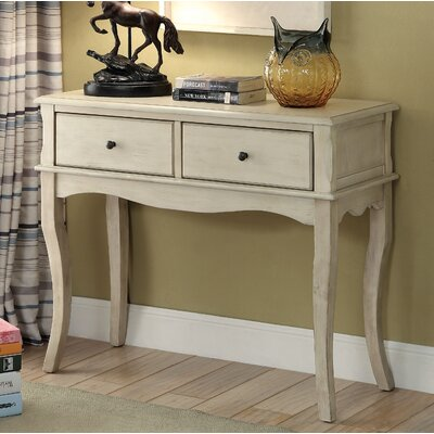 Ledoux Console Table Color: Antique White