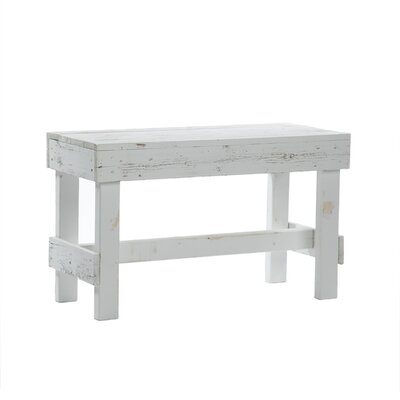 Marsh Wood Bench Color: White