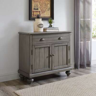 1 Drawer 2 Door Accent Cabinet Color: Gray