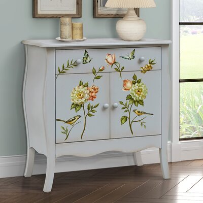 Sanger Hand-Painted 1 Drawer Accent Cabinet Color: Gray