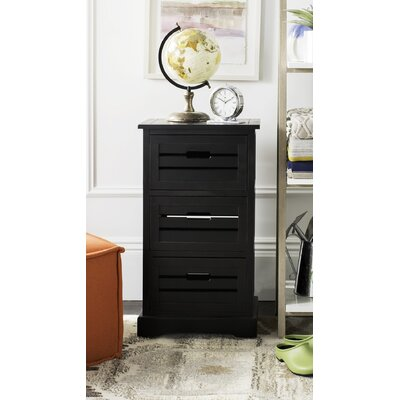 Loftis 3 Drawer Chest Color: Black