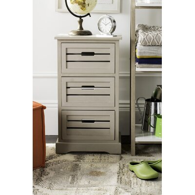 Loftis 3 Drawer Chest Color: Grey
