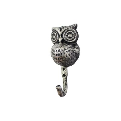 Ahern Handcrafted Cast Iron Wall Hook Color: Rustic Silver