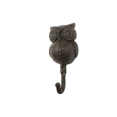 Ahern Handcrafted Cast Iron Wall Hook Color: Dark Brown