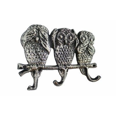 Ahern Coastal Cast Iron Wall Hook Color: Rustic Silver