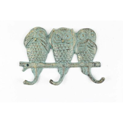 Ahern Coastal Cast Iron Wall Hook Color: Cadet Blue