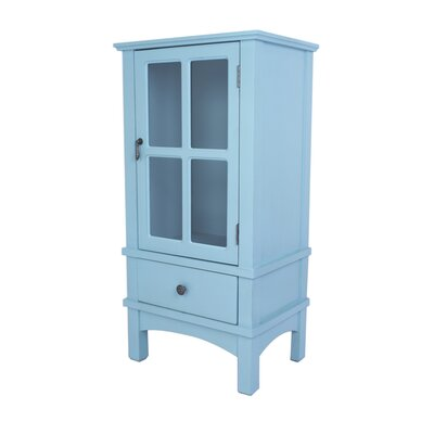 Hampton 1 Drawer Accent Cabinet Color: Blue