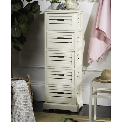 Maeline 5 Drawer Accent Chest Color: Distressed Cream
