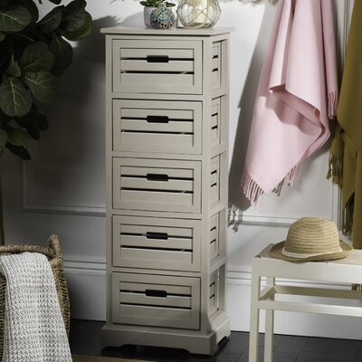 Maeline 5 Drawer Accent Chest Color: Gray