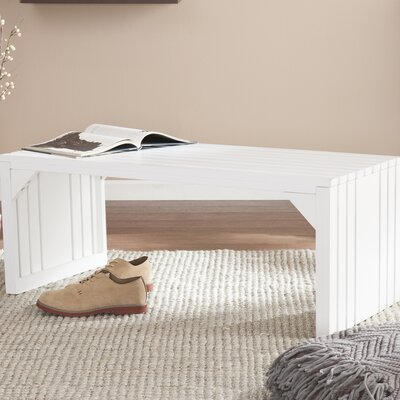 Exie Slat Bench Color: White