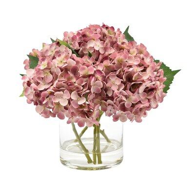 Top Selling Hydrangea Floral Arrangement In Glass Vase Flower