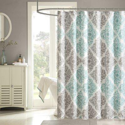 """Birch Lane Shower Curtain Color: Aqua, Size: 84"""" H x 72"""" W"""
