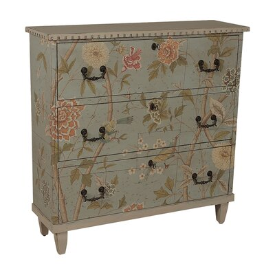 Carson Bay Floral Cottage 3 Drawer Accent Chest