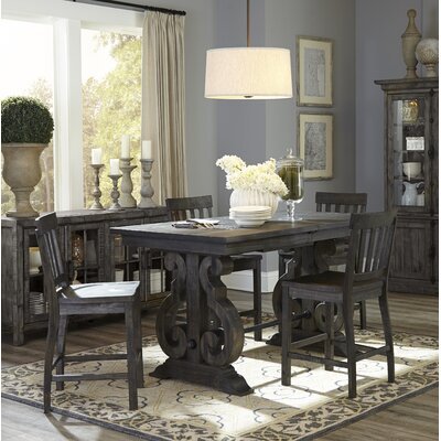 Roswell Rectangular Counter Height Dining Table Color: Deep Weathered Pine