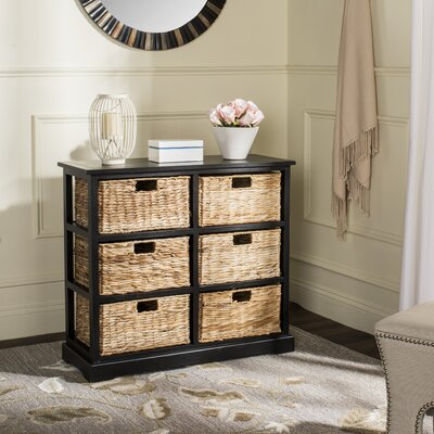 Clarion 6 Basket Storage Chest Color: Distressed Black