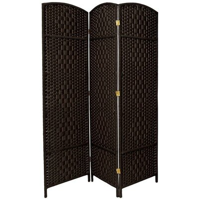 Waynefleet 3 Panel Room Divider Color: Black