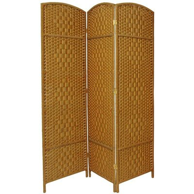 Waynefleet 3 Panel Room Divider Color: Light Beige