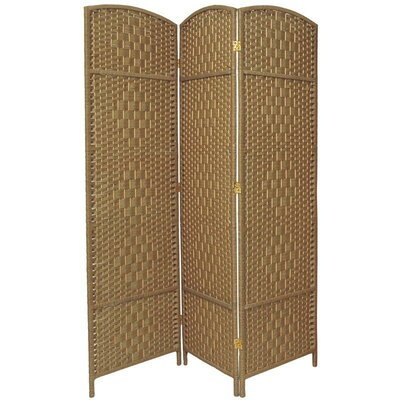 Waynefleet 3 Panel Room Divider Color: Natural