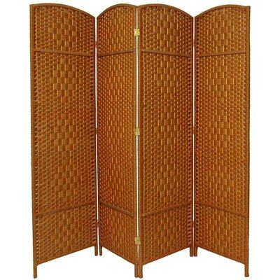 Nowayton 4 Panel Room Divider Color: Dark Beige