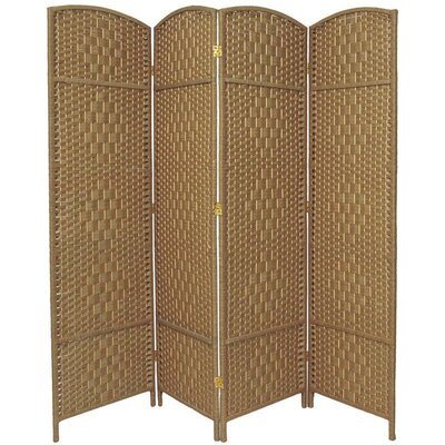 Nowayton 4 Panel Room Divider Color: Natural