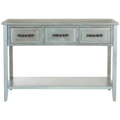 Crystal River Console Table Color: Barn Blue