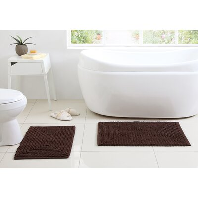 Munsch Chenille Bath Rug Color: Chocolate
