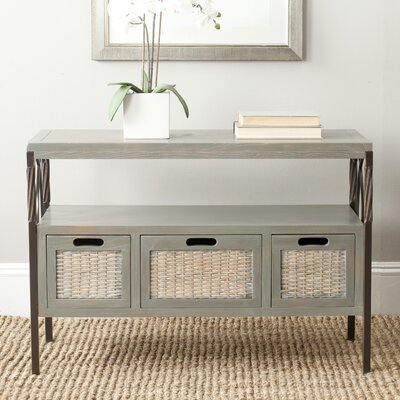 Ellie Console Table Color: French Grey