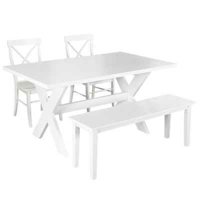 Medulla 4 Piece Dining Set Finish: White