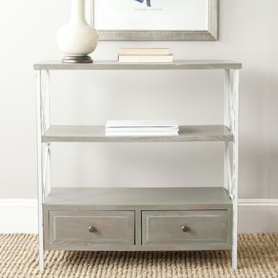 North De Land Console Table Color: Slate Green/White Smoke
