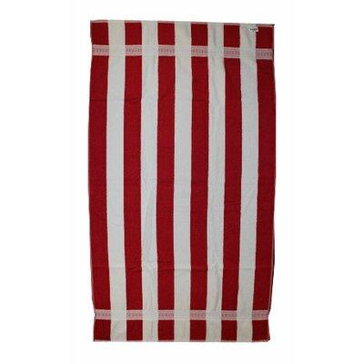 Kelsch 100% Cotton Beach Towel Color: Red / White