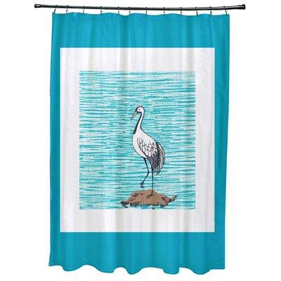 Cedarville Sandbar Animal Print Shower Curtain Color: Turquoise