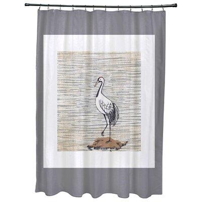 Cedarville Sandbar Animal Print Shower Curtain Color: Gray