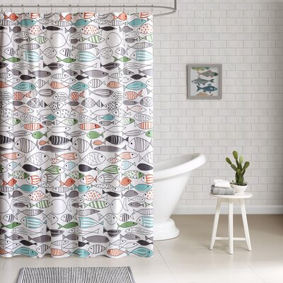 Ithaca Cotton Printed Shower Curtain