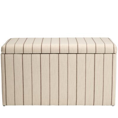 Evalyn Cotton Upholstered Storage Bench Color: Fritz Charcoal