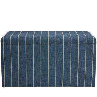Evalyn Cotton Upholstered Storage Bench Color: Indigo