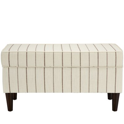 Evalyn Traditional Cotton Upholstered Storage Bench Color: Fritz Charcoal