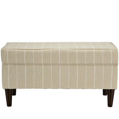 Evalyn Traditional Cotton Upholstered Storage Bench Color: Dove