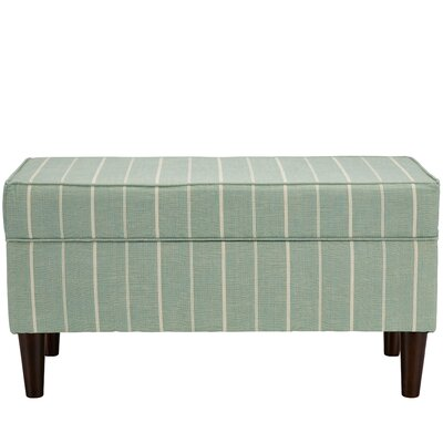 Evalyn Traditional Cotton Upholstered Storage Bench Color: Oasis
