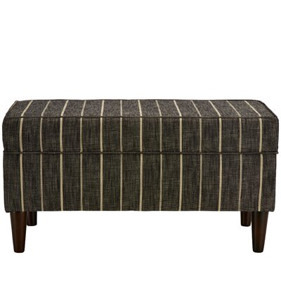 Evalyn Traditional Cotton Upholstered Storage Bench Color: Peppercorn
